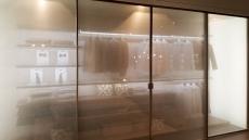 Wardrobes with semi transparent glass doors