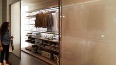 Wardrobes with silk screen glass doors