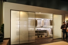 Closet with silk screen glass doors