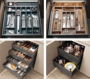 Cutlery, utensils, pots and pans accessories
