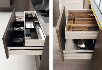 Internal drawers and accessories