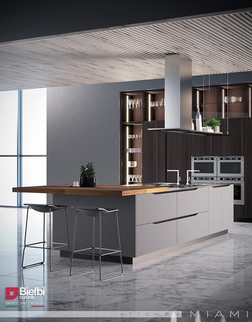 New take on handle-less kitchens. Simple,elegant, beautiful.