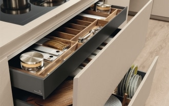 Graphite drawers and baskets