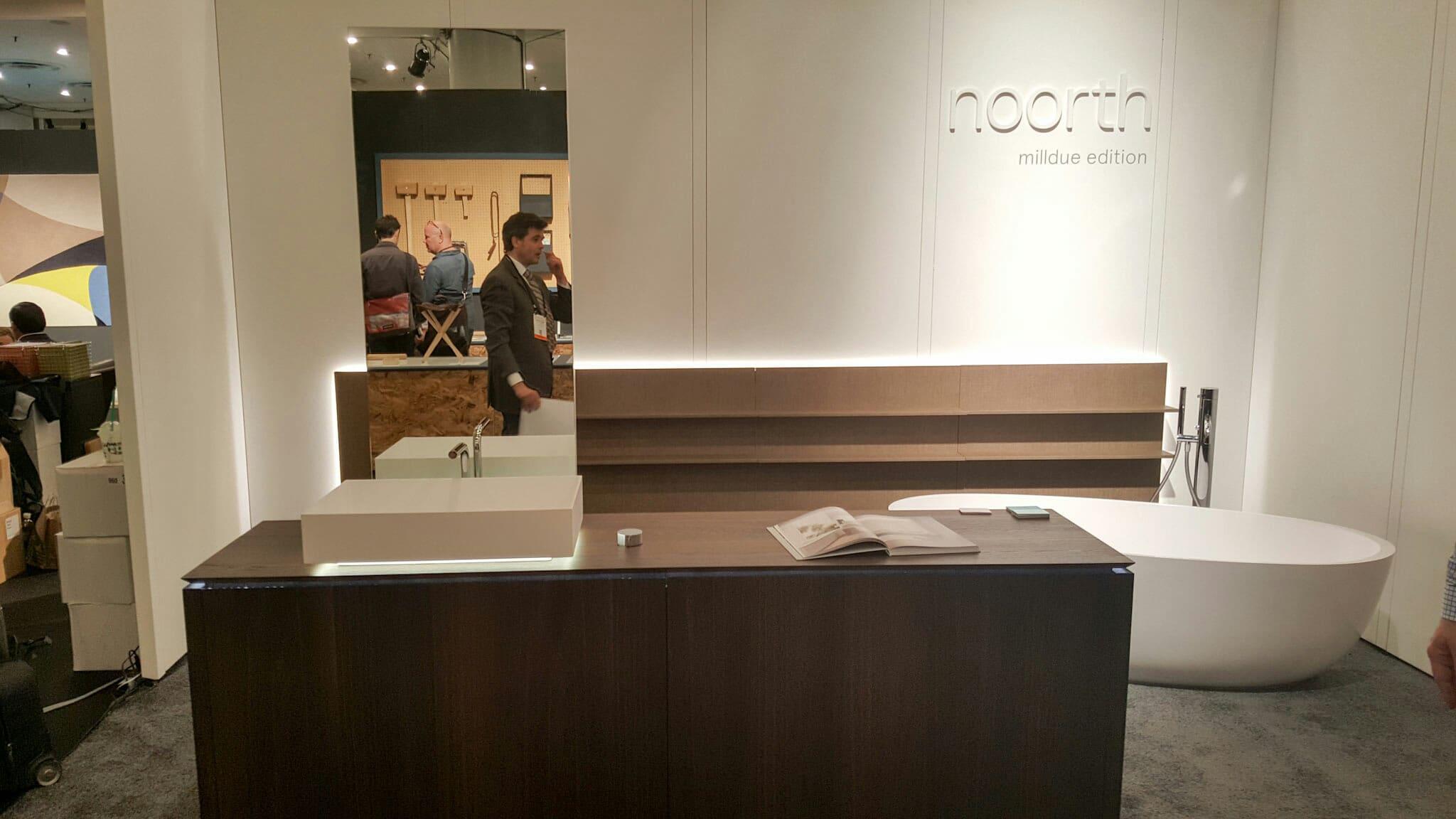 ICFF modern bathroom display