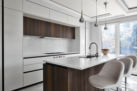Handle-less modern kitchen in Brooklyn
