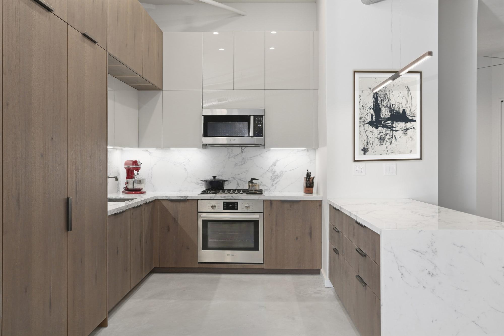 Modern European Kitchen In Historical Brooklyn