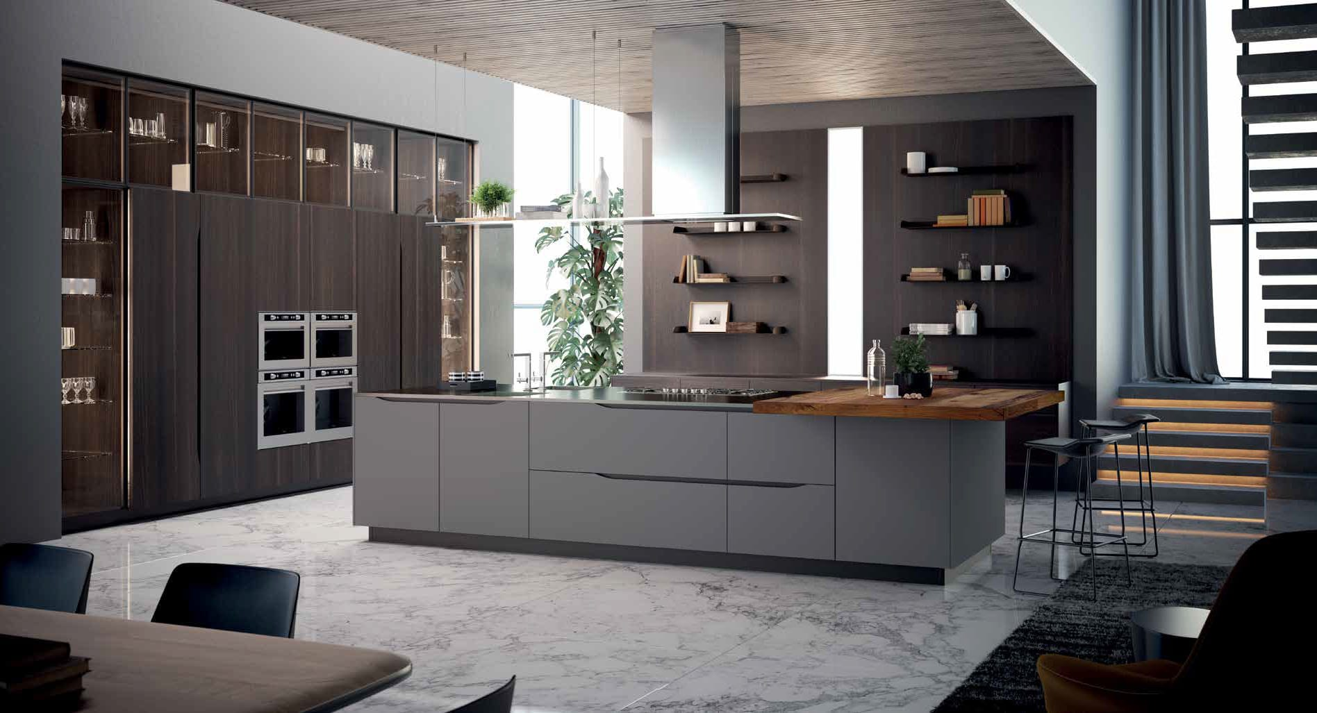The distinguishing attribute of Miami is a new take on handle-less kitchen design. It's simplicity and grace is a definition of elegant beauty.