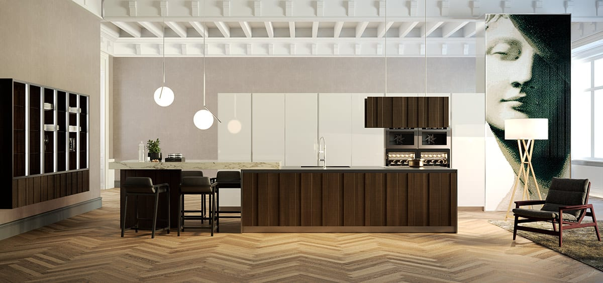 This kitchen reflects a contemporary take on mid-century modern design. Simple, clean lines, natural wood grain, are the definition of mid-century modern.