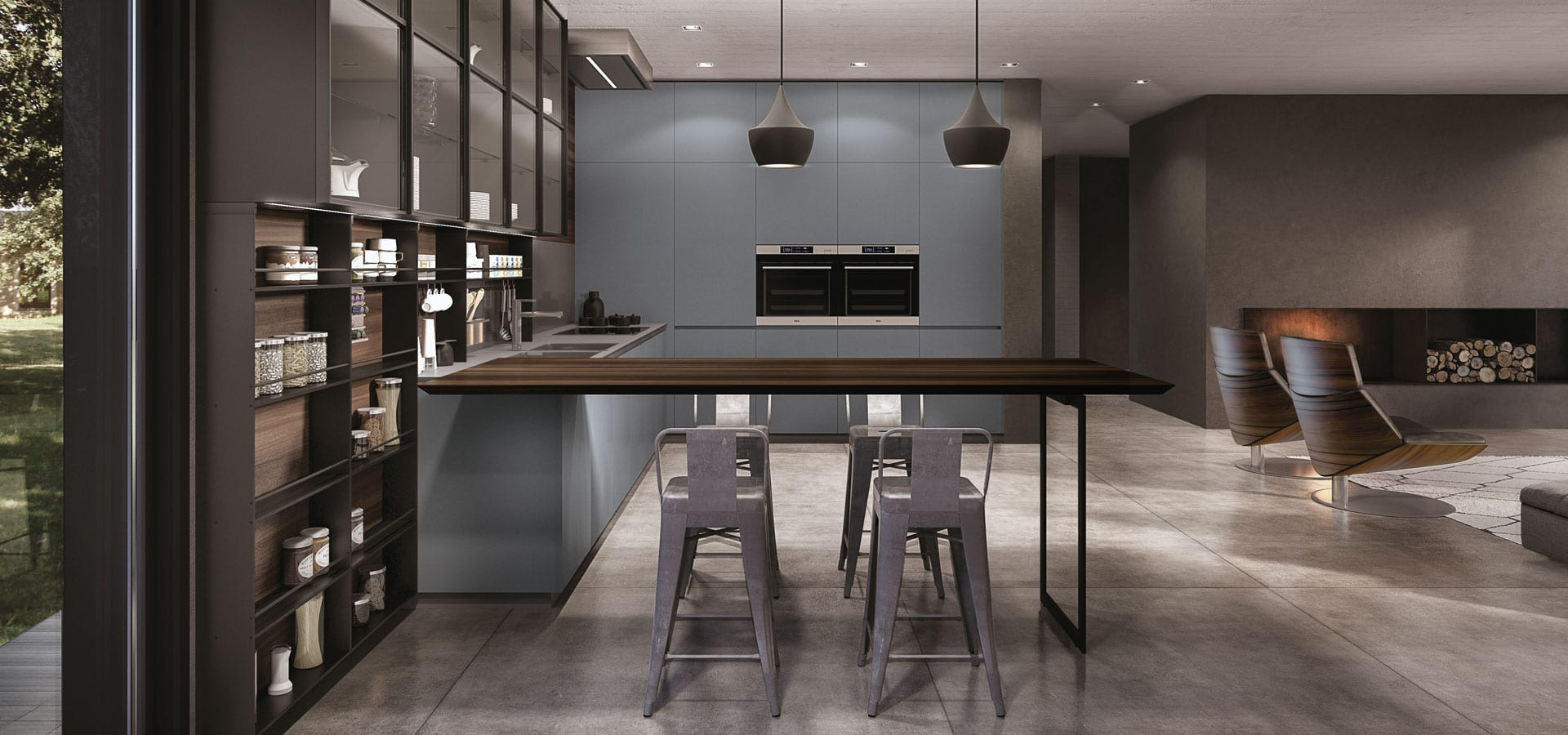 Modern European kitchen