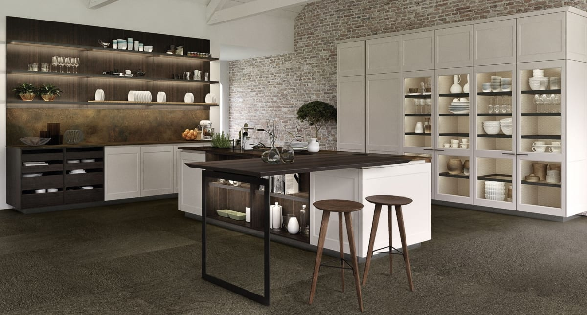 Contemporary design, transitional kitchen style, classical kitchen style, shaker style door, white lacquer kitchen,
