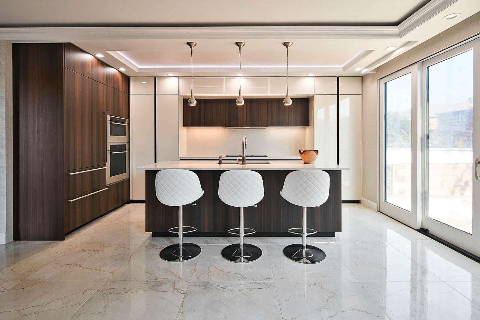Handle-less modern kitchen in Brooklyn