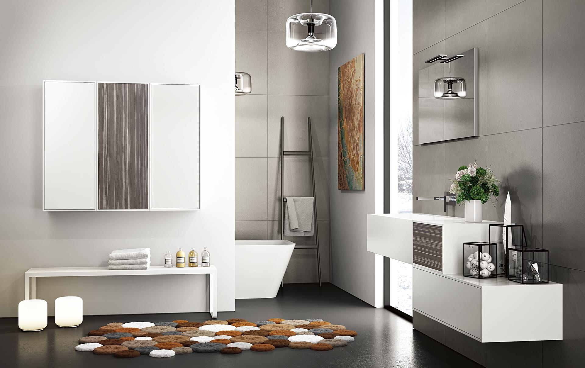 European kitchen center is a source of modern and contemporary bathroom furniture solutions.